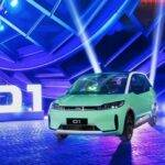 The Chinese introduced an electric car designed specifically for taxis and car sharing